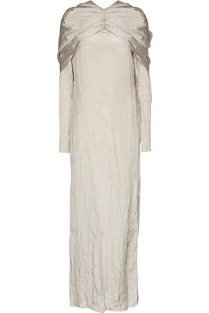 Deveaux New York Emma crinkled satin midi dress