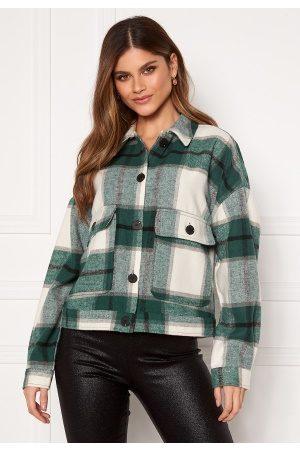 Selected Gia LS Overshirt Hunter Green Checks 36