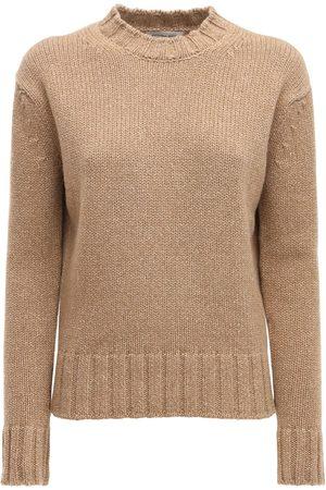 Victoria Beckham Wool & Cashmere Knit Crewneck Sweater
