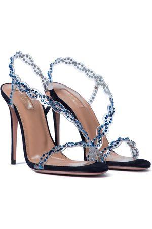 Aquazzura Heaven 105 embellished PVC sandals