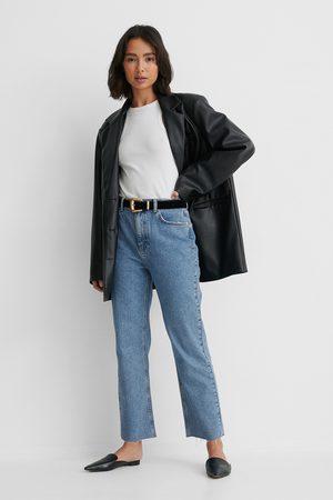 NA-KD Dame Straight - Økologiske Rette Jeans Med Høyt Liv
