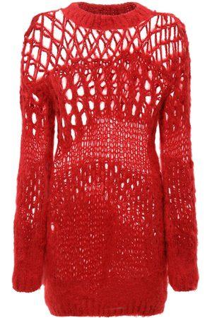 JUNYA WATANABE Dame Strikkegensere - Openwork Wool Knit Sweater