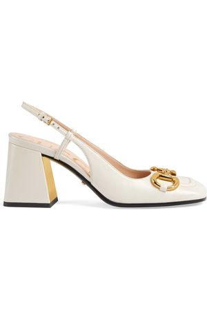 Gucci Women's mid-heel slingback with Horsebit