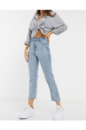 Brave Soul Dame High waist - Francis high waisted mom jeans in light wash blue