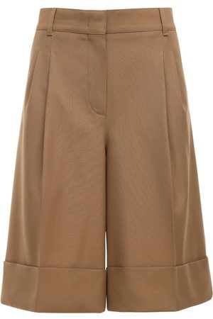 CASASOLA High Waist Wool Bermuda Shorts