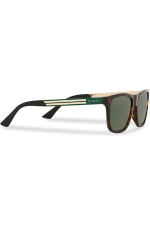 Gucci Herre Solbriller - GG0687S Sunglasses Havana/Green
