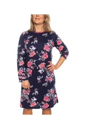 Damella Dame Pyjamaser - Damella Navy Flower Nightdress LS