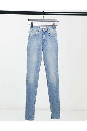 Won Hundred Marilyn high waisted skinny jeans in light wash-Blue