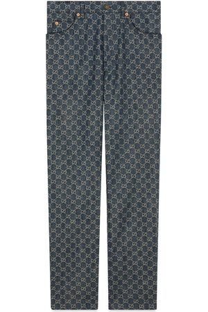 Gucci Eco washed GG denim pant
