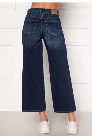 Only Madison HI Life Wide Crop Jeans Dark Denim Blue 32/32
