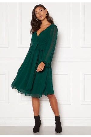 Goddiva Chiffon Midi Dress Green XL (UK16)