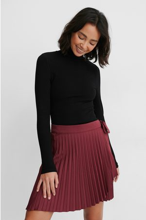 NA-KD Wrap Pleated Mini Skirt