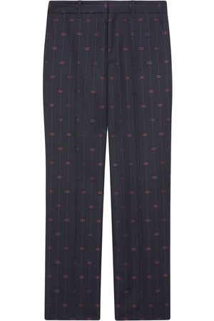 Gucci Dame Chinos - Retro GG wide-leg trousers