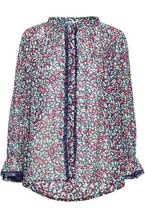 By Malina Dame Bluser - Ivey Blouse Bluse Langermet Multi/mønstret