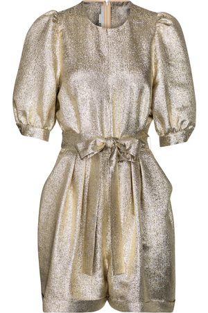 Stella McCartney Elisa metallic crêpe jumpsuit
