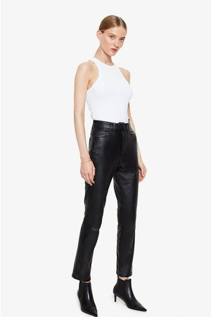 ANINE BING Connor Leather Pants In Black
