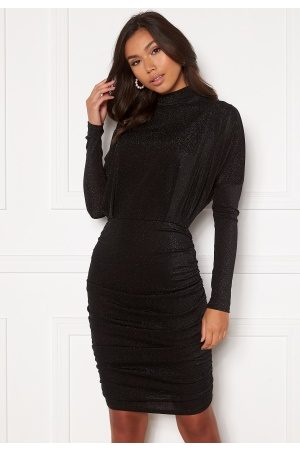 Ax Paris High Neck Rough Sparkle Dress Black L (UK14)