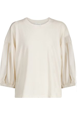 Velvet Dame Langermede - Prudy cotton top