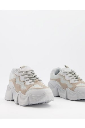 Truffle Collection Dame Sneakers - Chunky trainers with exaggerated sole in grey