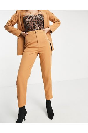 Missguided Co-ord cigarette trousers in camel-Tan