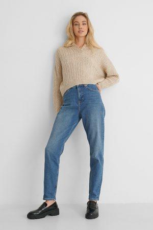 NA-KD Dame High waist - Økologiske Mom Jeans