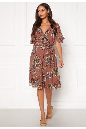 Happy Holly Linnea midi dress Dark dusty pink / Patterned 36/38
