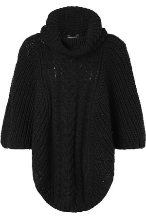 Accessorize Dame Ponchos - Cabel Knit Poncho Acc Heavyweight