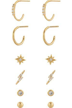 Accessorize Dame Øreringer - Z 12X Stud And Hoop A J Z Earring