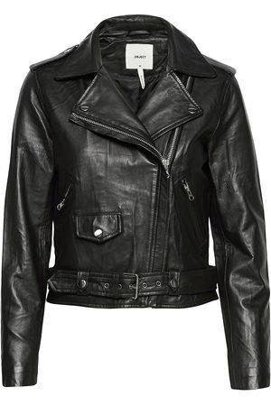 Object Dame Skinnjakker - Objnandita Leather Jacket Noos Skinnjakke Skinnjakke