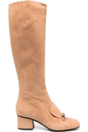 Gucci Dame Høye støvletter - Horsebit-detail knee-length boots