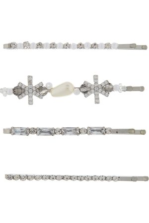 Accessorize 4X Crystal And Pearl A L Hair Accessories