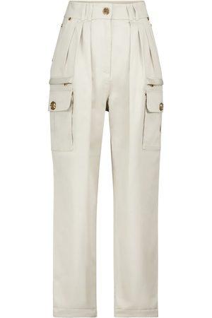 Balmain Dame High waist - High-rise straight cargo jeans