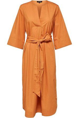 Selected Carlotta 3/4 midi hood dress