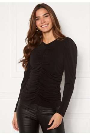 Vero Moda Megane L/S Rouching Top Black M