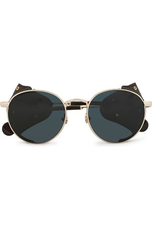 Moncler Lunettes Herre Solbriller - Blazon Polarized Sunglasses Gold/Brown