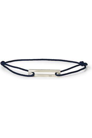Le Gramme Herre Armbånd - Cord Bracelet Le 17/10 Navy/Sterling Silver