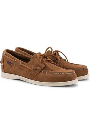 SEBAGO Herre Loafers - Docksides Suede Boat Shoe Brown Cognac