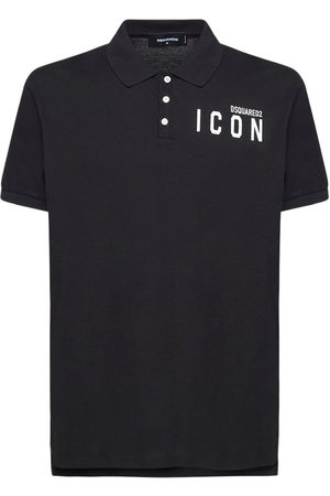 Dsquared2 Mini Icon Print Cotton Pique Polo