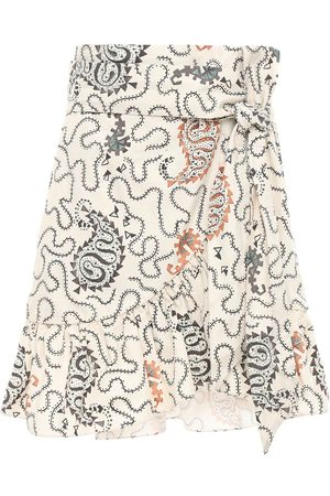 Isabel Marant Liliko Printed Cotton Mini Skirt
