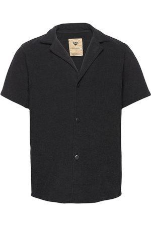 Oas Herre Kortermede - Black Cuba Terry Shirt Kortermet Skjorte