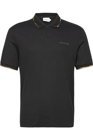 Calvin Klein Herre Pique - Gold Logo Polo Polos Short-sleeved