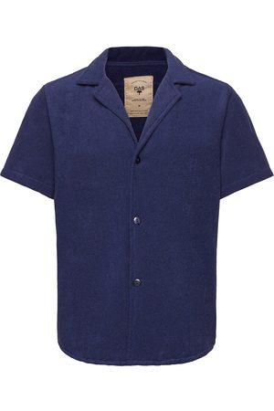 Oas Herre Kortermede - Navy Cuba Terry Shirt Kortermet Skjorte