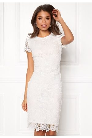 BUBBLEROOM Flora lace dress White 42