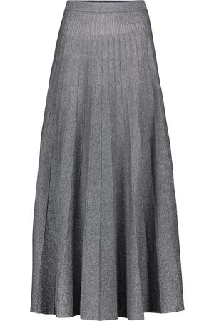 Joseph High-rise metallic midi skirt