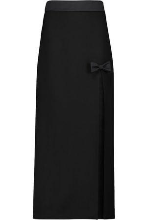 Miu Miu High-rise stretch-wool midi skirt