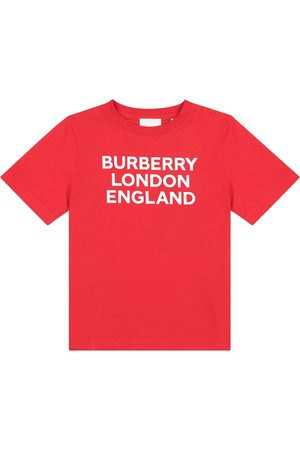 Burberry Jente Kortermede - Logo cotton T-shirt