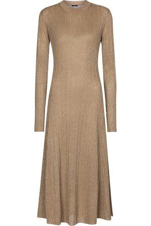 Joseph Metallic midi dress