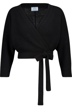 Prada Cropped wool and cashmere cardigan