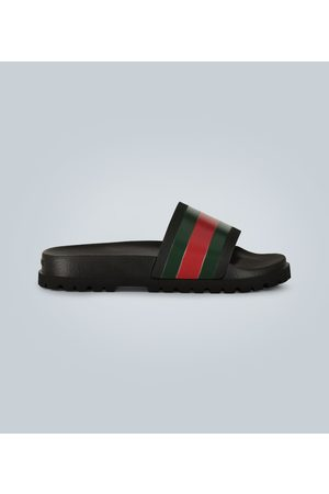 Gucci Striped Web slide sandals