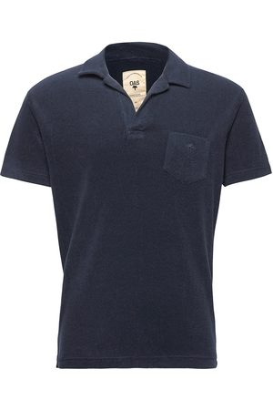 Oas Solid Navy Terry Shirt Polos Short-sleeved